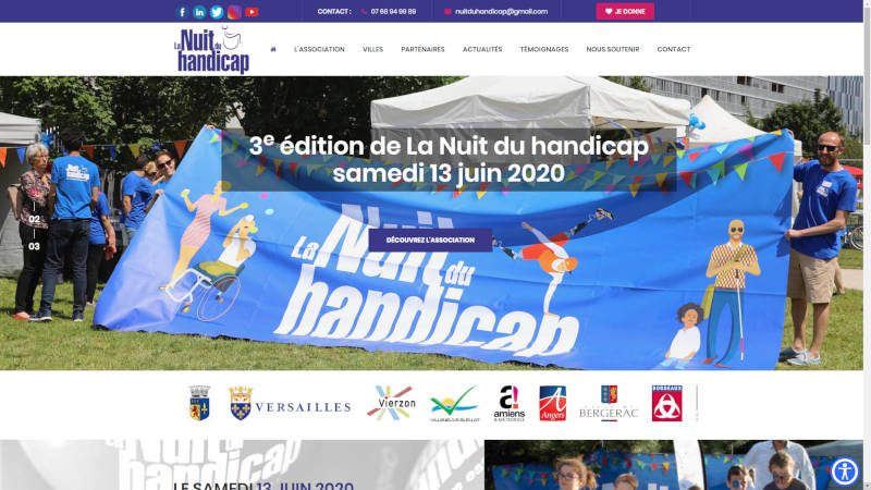 creation site web La Nuit du handicap