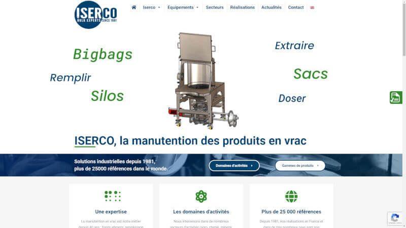 ISERCO, la manutention en vrac, équipements pour les industriels
