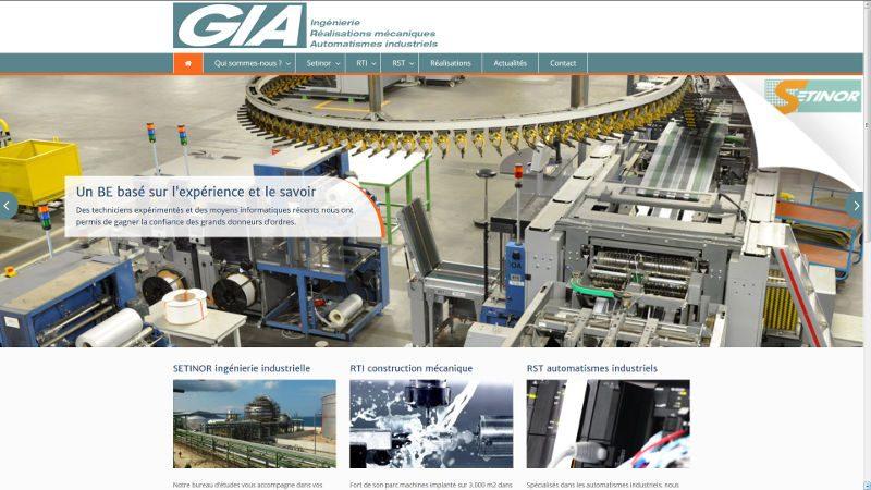 VIVE la VIE a créé le site GIA Industrie