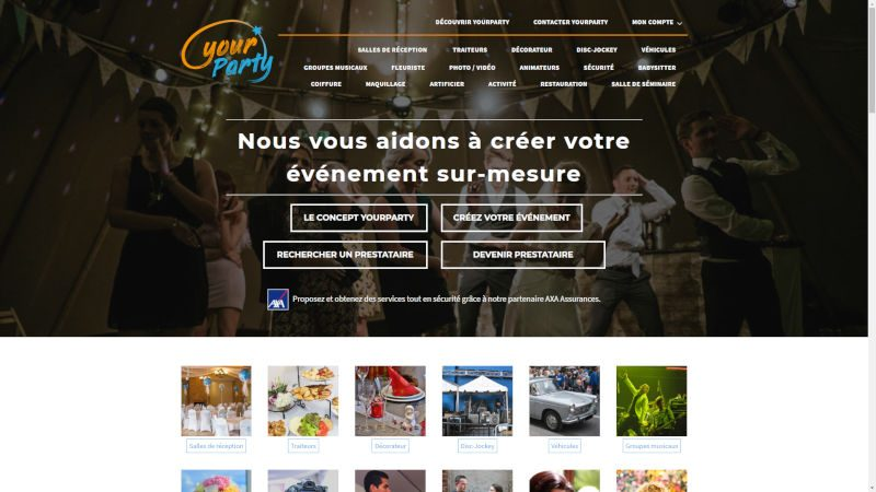 creation site web Yourparty