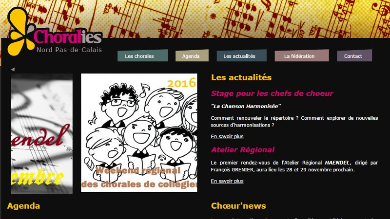 creation site web Chorales A Coeur Joie