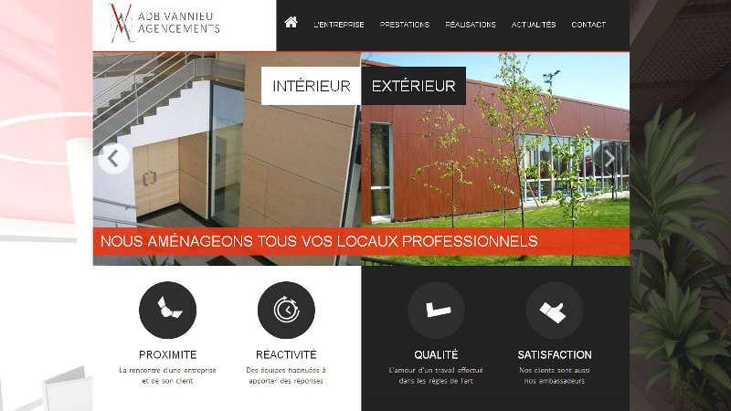 creation site web ADB Vannieu Agencements