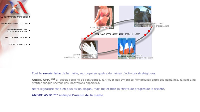 creation site web André Avio