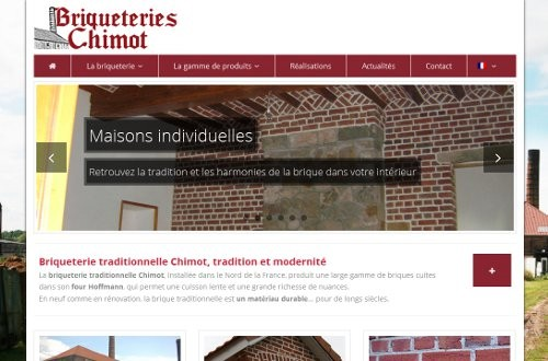 creation site web Briqueterie Chimot