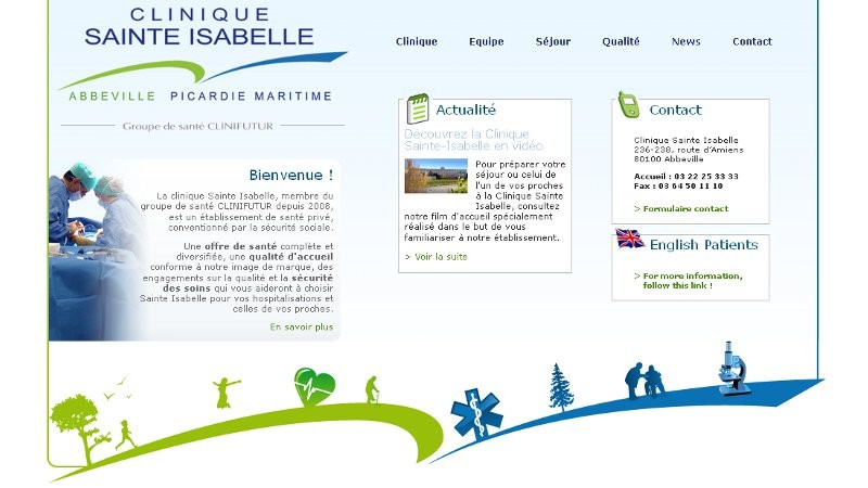 creation site web Clinique Ste Isabelle