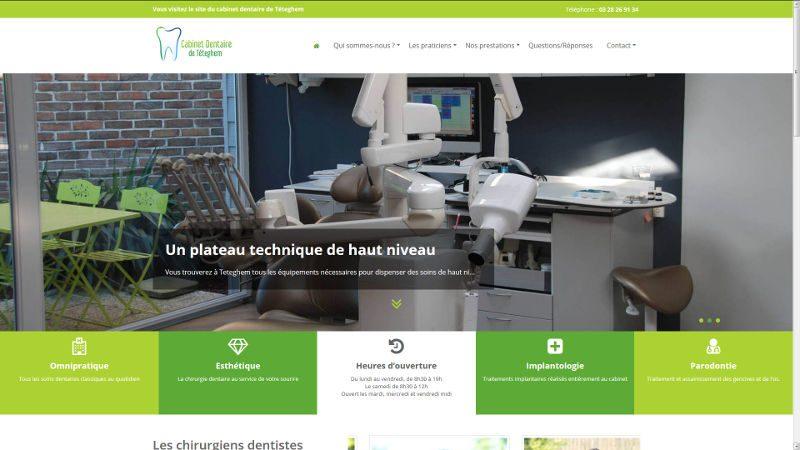 creation site web Cabinet dentaire de Téteghem