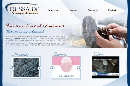creation site web Dussaux
