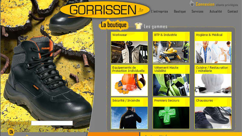 creation site web Gorrissen