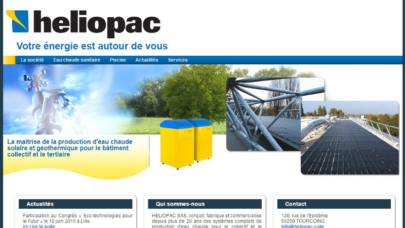 creation site web Héliopac