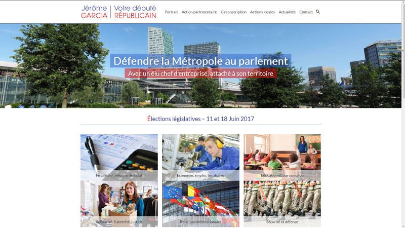 creation site web Législatives 2017