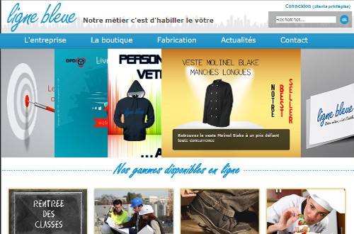 creation site web Ligne Bleue