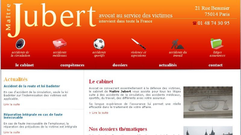 creation site web Maître Jubert