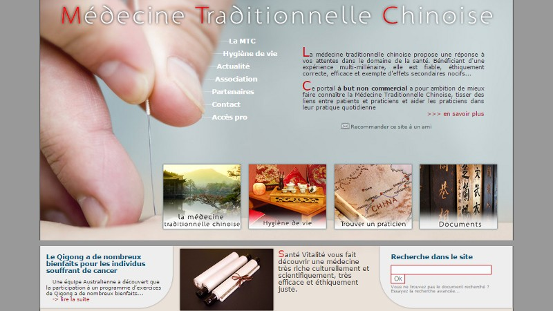 creation site web Médecine Chinoise