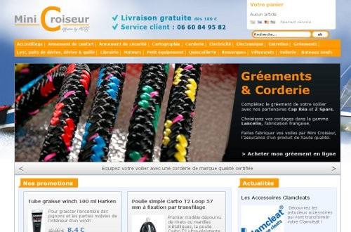 creation site web Mini Croiseur