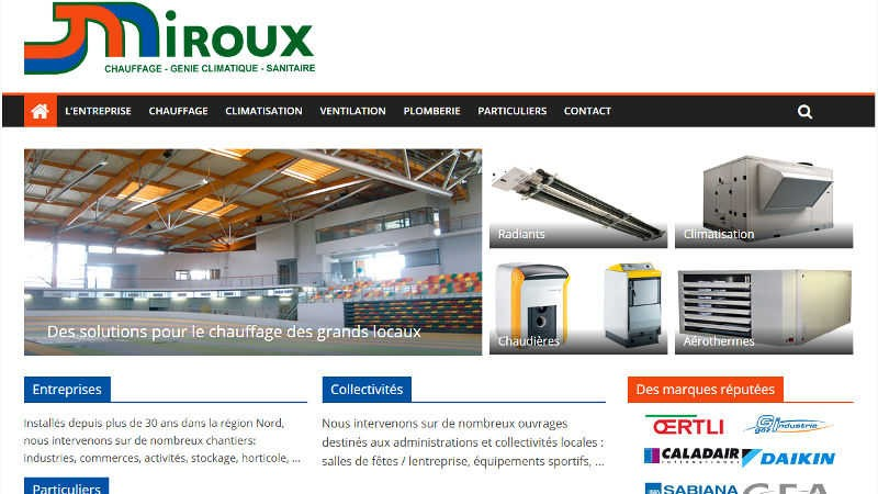 creation site web Miroux