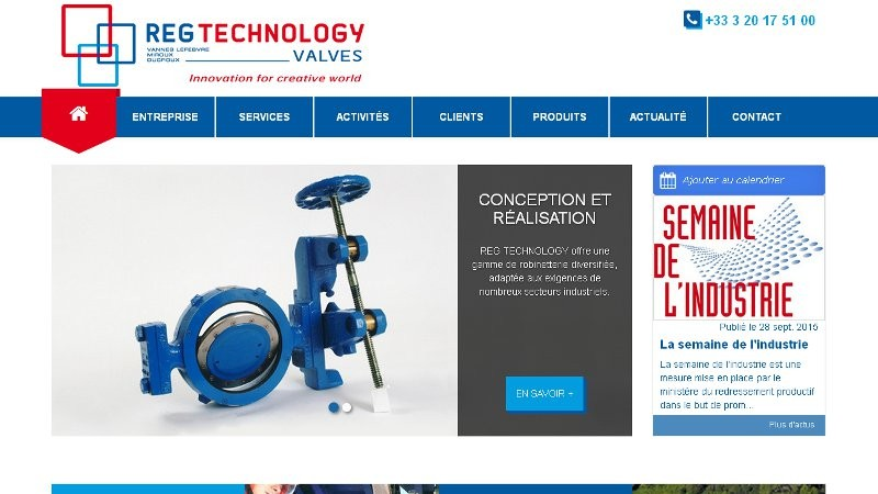 creation site web Reg Technology