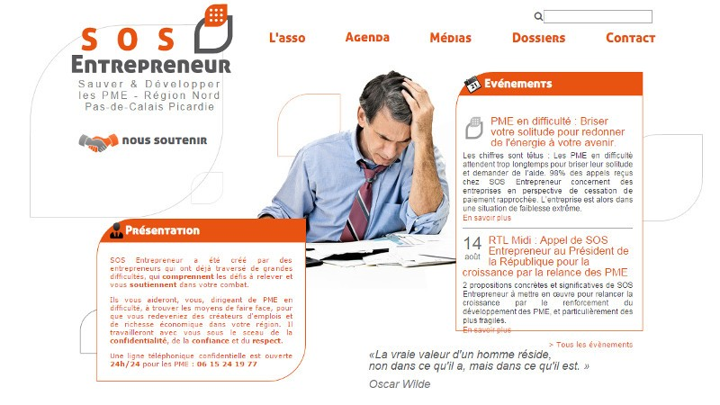 creation site web SOS Entrepreneur