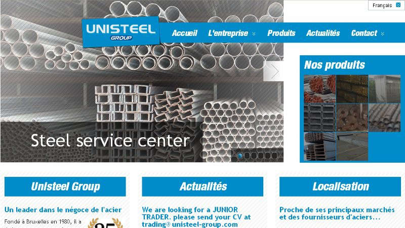 creation site web Unisteel
