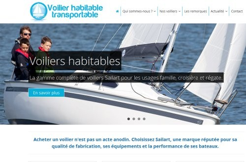 creation site web Voilier habitable transportable