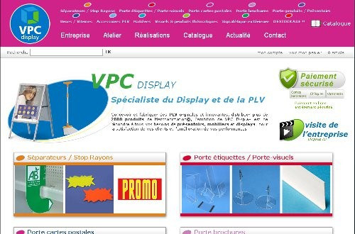 creation site web VPC Display