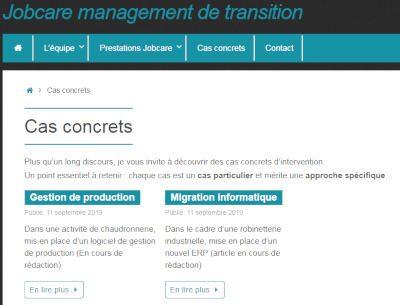 présentation de cas concrets dans le site Jobcare management
