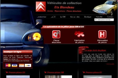 creation site web Jean Blondeau