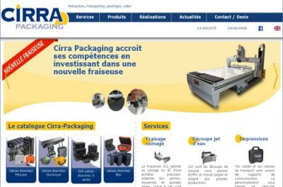 creation site web Cirra Packaging