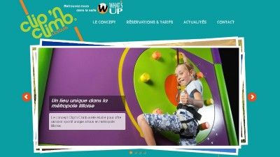 creation site web Clip'n Climb