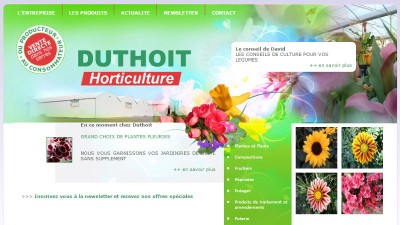 creation site web Duthoit
