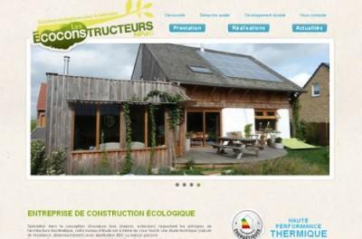 creation site web Les Ecoconstructeurs