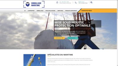 creation site web Emballage Maritime