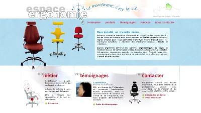 creation site web Espace Ergonomie