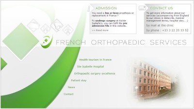 creation site web French orthopaedic