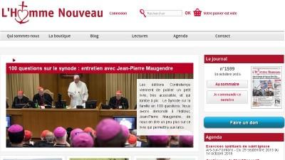 creation site web Homme Nouveau