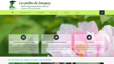 creation site web Les Jardins du Joncquoy