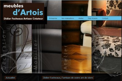 creation site web Meubles d'Artois