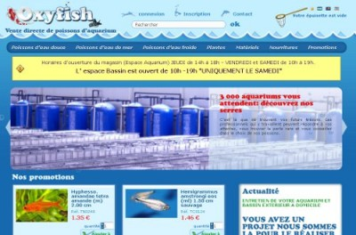 creation site web Oxyfish