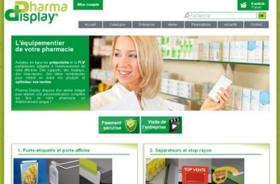 creation site web Pharma Display