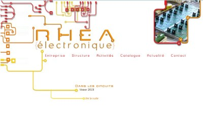 creation site web Rhéa Electronique
