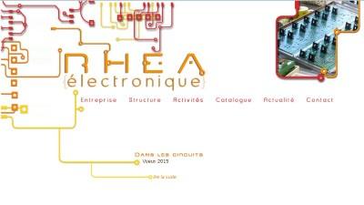 creation site web Rhéa Electronique