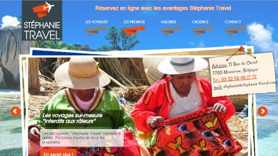 creation site web Stéphanie Travel