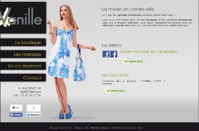 creation site web Vanille