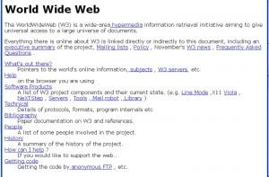 le premier site web du monde
