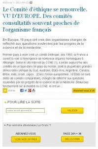 Presse d'opininon, La Croix